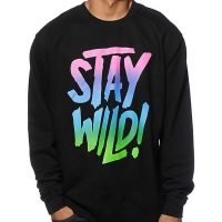 Stay Wild fleece graphic for Portlands own snowboard and lifestyle brand Airblaster. #staywild